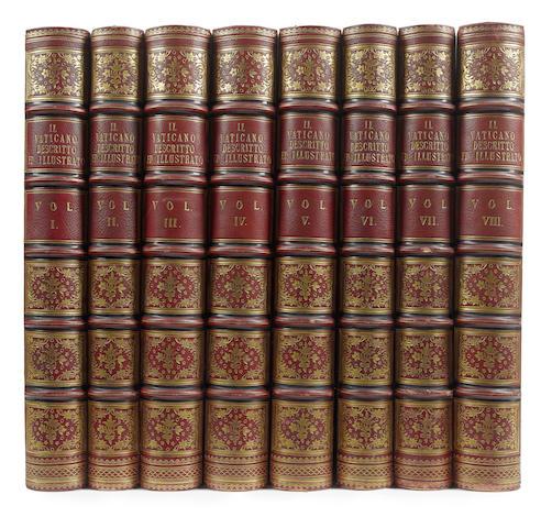 PISTOLESI (ERASMO) Il Vaticano, 8 vol., 1829-1838