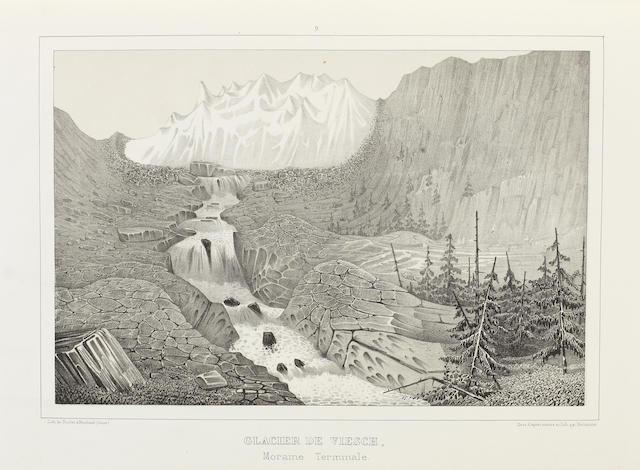 AGASSIZ (LOUIS) Etudes sur les glaciers, Atlas vol. only, 1840