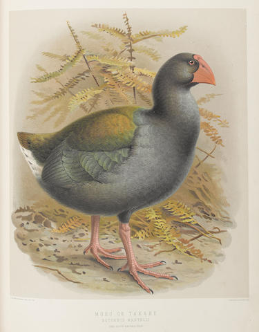 BULLER (WALTER LAWRY) A History of the Birds of New Zealand, 2 vol., 1888