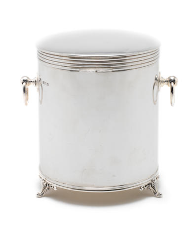 A silver biscuit barrel by James Dixon & Son, Sheffield 1908