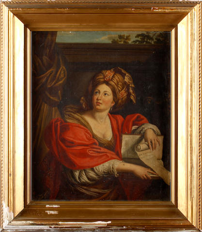 After Giovanni Francesco Barbieri, called il Guercino, 19th Century Portrait of the Samian Sybil
