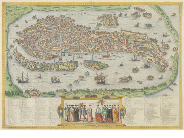 MAPS AND ATLASES. BRAUN (GEORG) and FRANZ HOGENBERG. Venetia, [1572, or later]