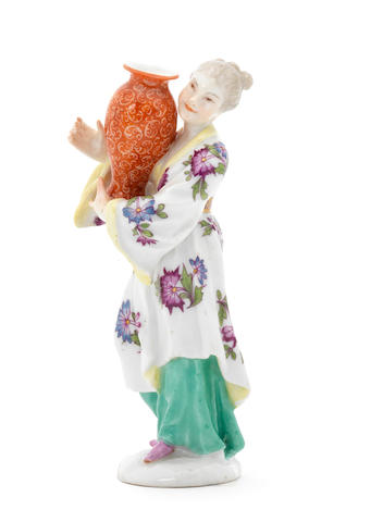 A Meissen Chinoiserie lady, circa 1755