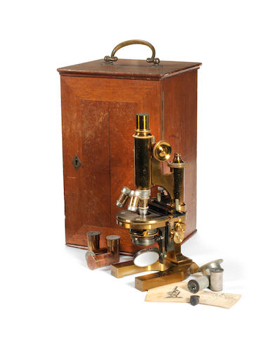 A Leitz Wetzlar monocular micoscope, circa 1895,