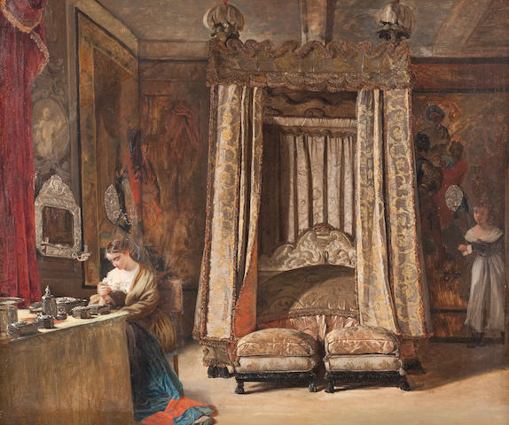 English School, (19th century) The King's Bed Chamber, Knole