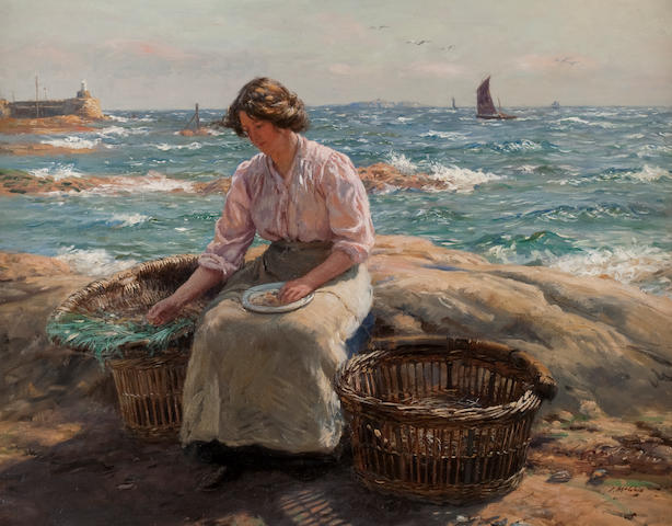 John McGhie (British, 1867-1952) Summer in East Neuk
