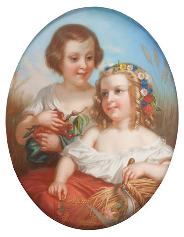 Continental School, circa 1900 An allegory of Spring and Summer both 68cm high,
