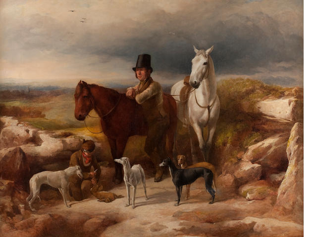 Richard Ansdell, RA (British, 1815-1885) The Hunting Party
