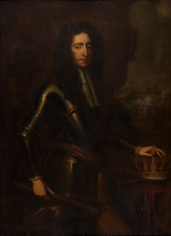 Circle of Willem Wissing (Amsterdam 1656-1687 Burghley) Three quarter length portrait of William III