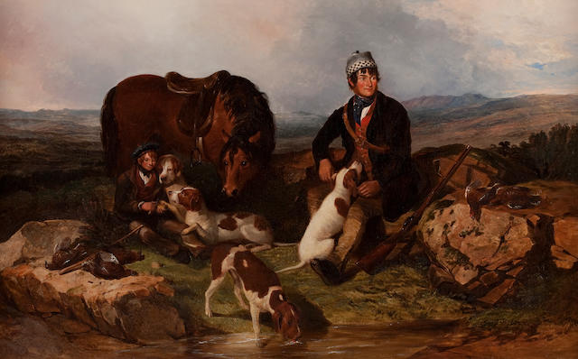 Alexander F. Rolfe (British, 19th century) The Hunting Party