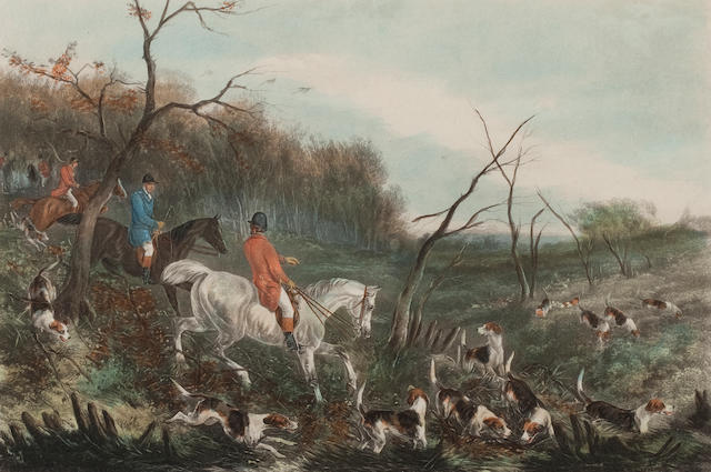 After William Joseph Shayer, (20th century) A set of four hunting prints.