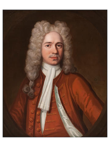 John Verelst (active 1698-1734 London) Portrait of a man in a full wig