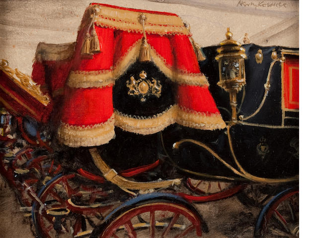 Henry Koehler (American, born 1927) Pair of Carriages in the Royal Mews