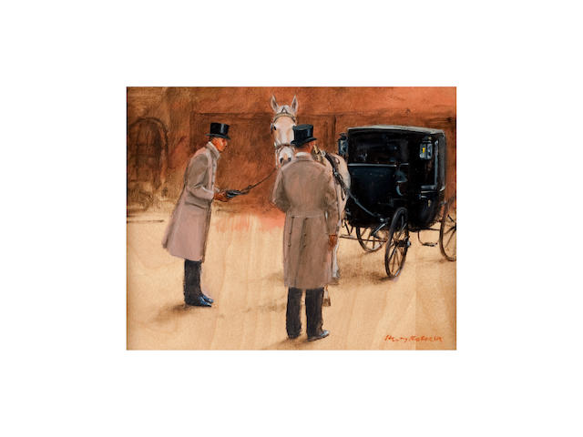 Henry Koehler (American, born 1927) Harnessing at the Royal Mews