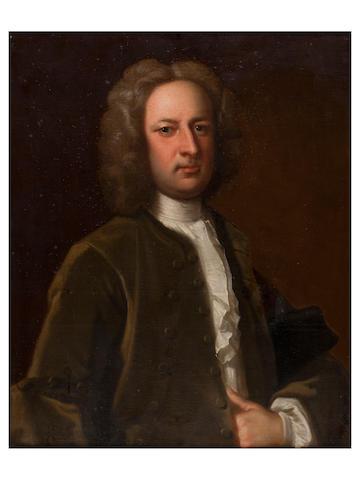 Circle of Thomas Hudson (British, 1701-1779) Portrait of Morgan Jenkin of Neath Abbey