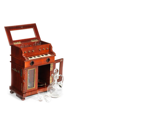 An unusual musical automaton miniature liquor compendium, Vienese, first quarter 20th century,