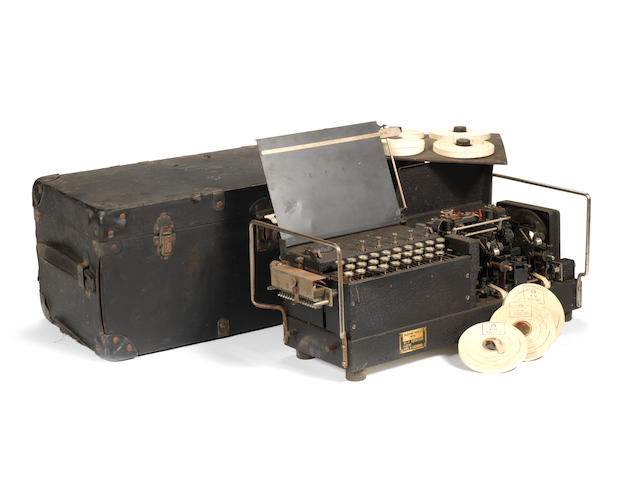 A rare Typex mark VI British Naval and RAF Enigma machine, circa 1940,