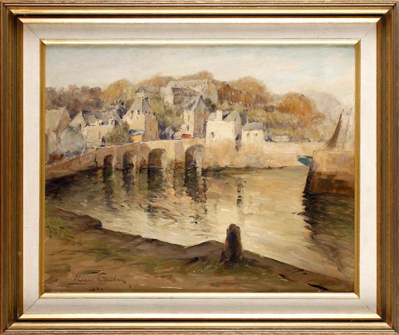 Pierre Louis Cadre (French, 1890-1962) Pont du Loch d'Auray (Brittany), 32 x 40cm.