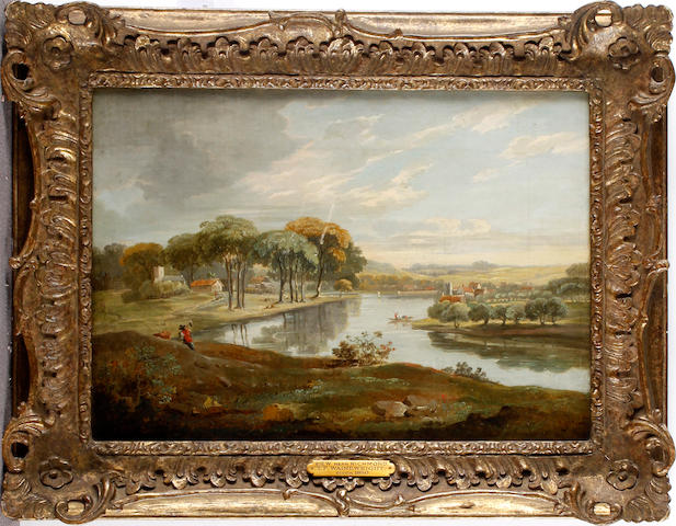 Manner of Thomas Wainewright View Of Richmond, 27 x 38cm.