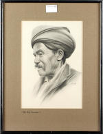 G* Douglas, 20th Century eight studies of Tibetan characters:- Tibetan Rickshawala; Tibetan Trader; Tea Estate Worker Nepal; Old Tibetan; Old Hill Woman; Tibetan Woman; Old Hillman; Old Burman; signed charcoal, 29,5cm x 20cm.