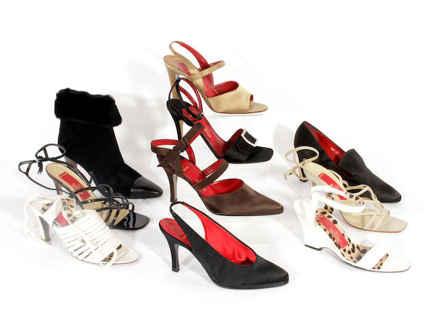 Ten pairs of Valentino shoes, sandals and boots