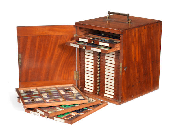 A good cased collection of microscope slides and microdot photographs: