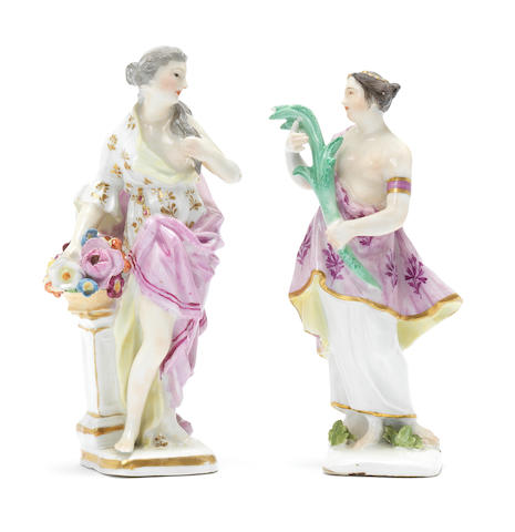 Two Meissen classical figures, third quarter 18th century