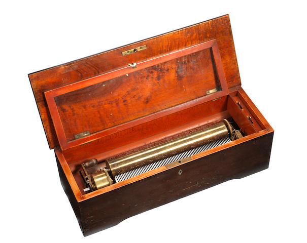 A hooked tooth musical box playing eight airs, by L'Pee, circa 1866,