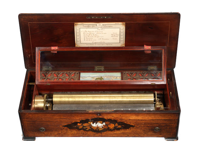A fine and rare Organocleíde musical box playing six airs, by Ducommun Girod, circa 1870,