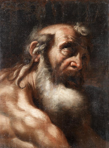 Venetian School, 17th Century St Jerome unframed
