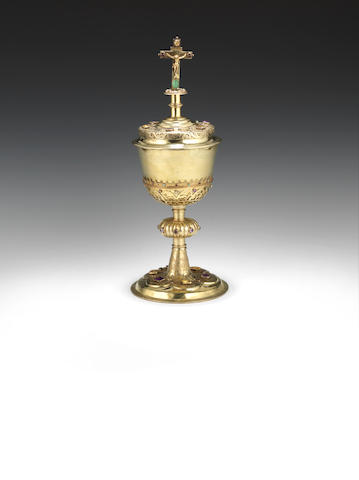 An early 17th century Silver-gilt ciborium and cover possibly Transylvanian