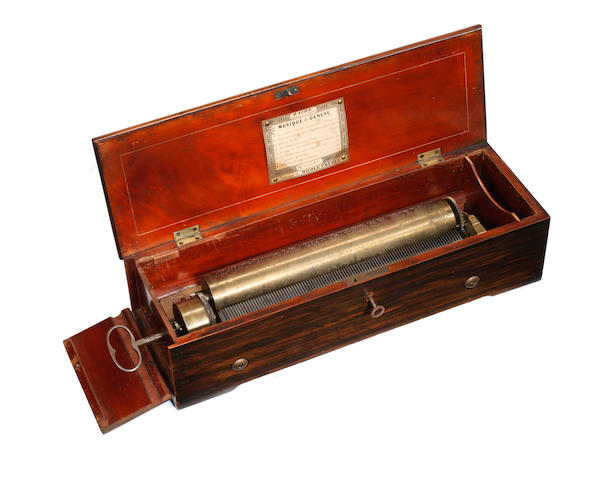 A key-wind oratorio musical box, by Nicole Freres, circa 1852,