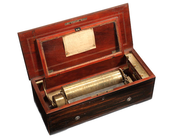 A two-per-turn musical box, by Nicole Freres, circa 1863,