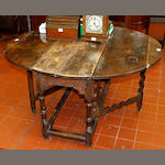 A late 17th/early 18th century oak gateleg table