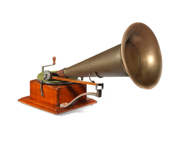 A Trademark Gramophone, by The Gramophone Company, circa 1899 and later,