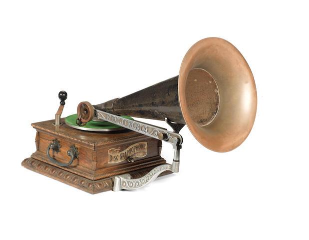 A Columbia AJ Disc Graphophone, circa 1903,