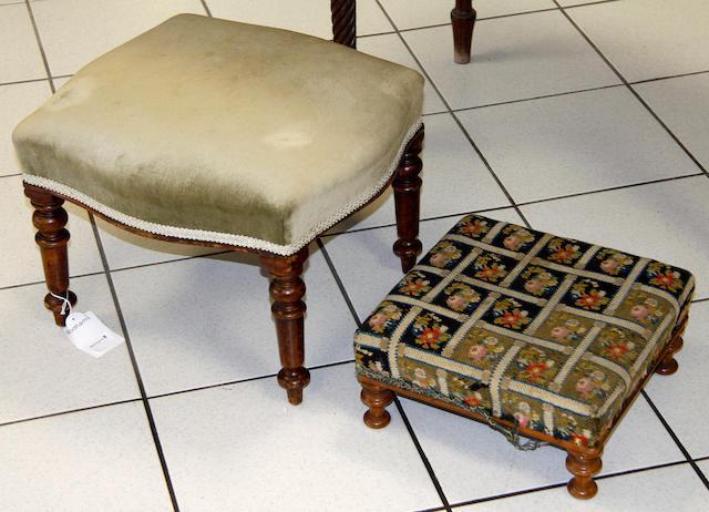 A 19th Century mahogany footstool