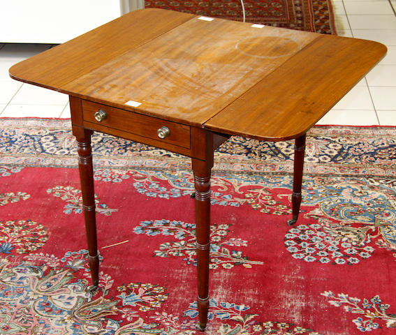 A William IV mahogany Pembroke work table