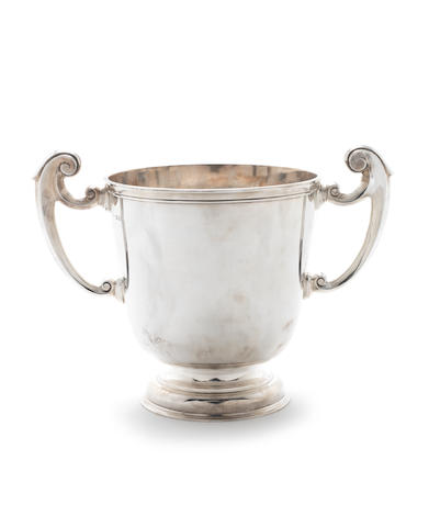 A large two-handled silver presentation cup by Charles Stuart Harris, London 1926