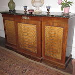 A Regency rosewood breakfront side cabinet
