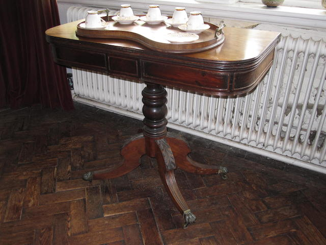 A 19th century mahogany teatable