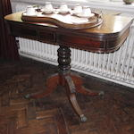 19th century mahogany folding teatable