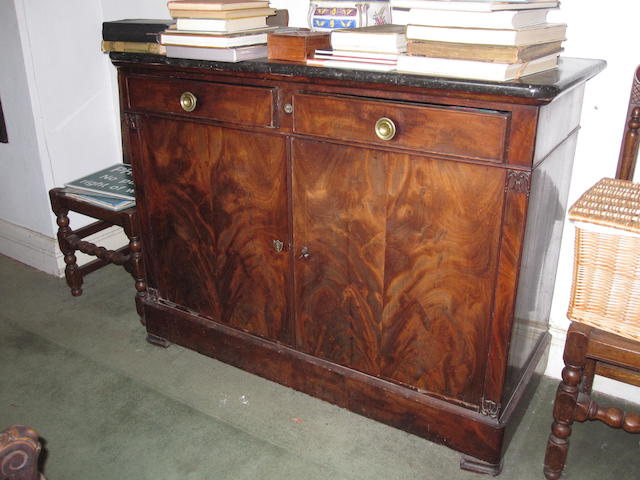 A 19th century mahogany side cabinet
