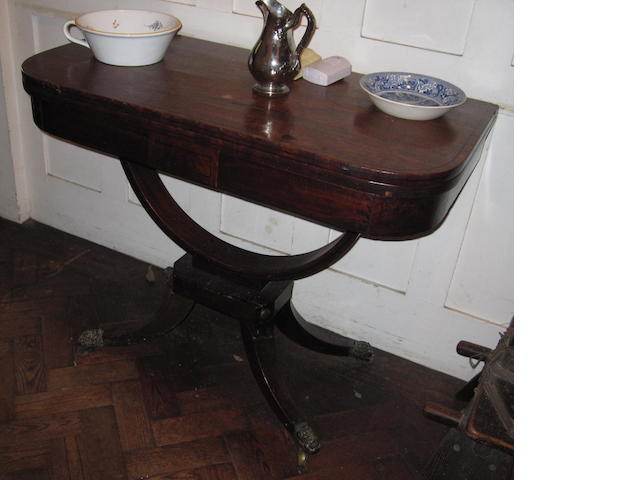 Two 19th Century mahogany card tables