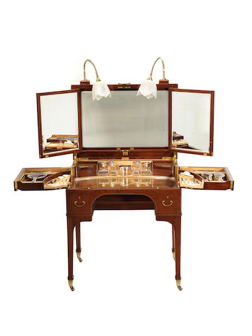 Betjemin dressing table with silver fittings