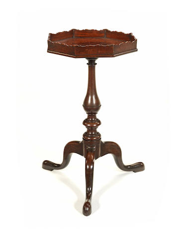 A George III octgonal tripod table