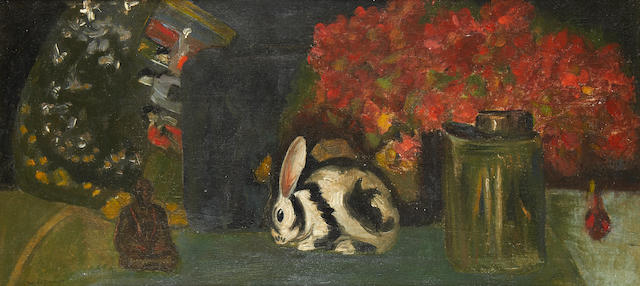Willem de Zwart (Dutch, 1862-1931) Still life with bunny