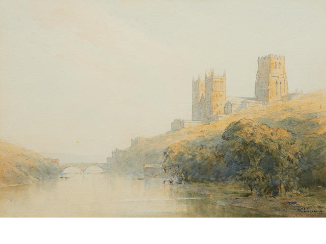 Gerald Ackermann, R.I (1876-1960) View of Durham Cathedral
