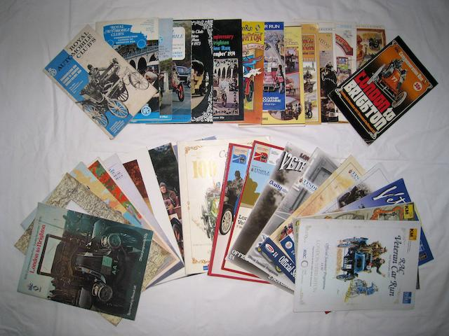 Assorted London to Brighton Veteran Car Run programmes,