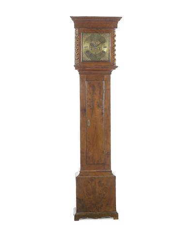 A rare 18th century yew wood longcase clock Ellwood, London